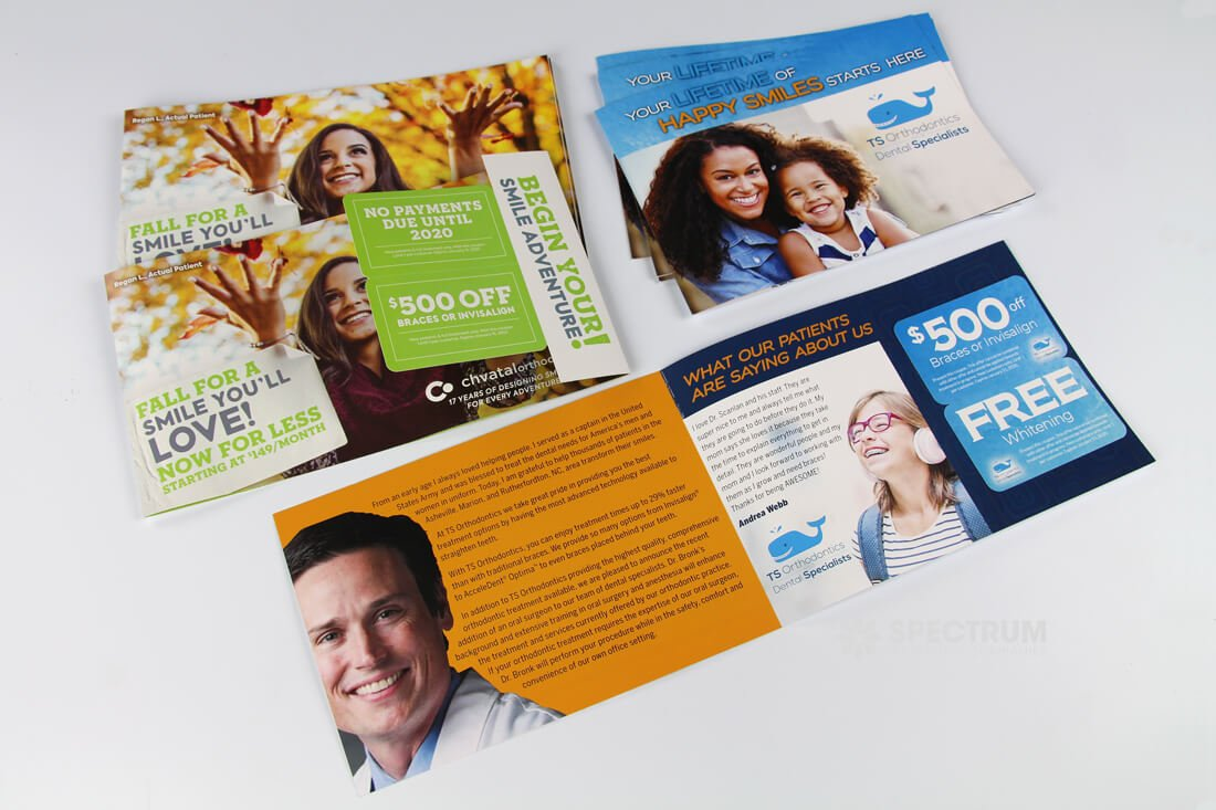 Dental Industry mailers with gift cards