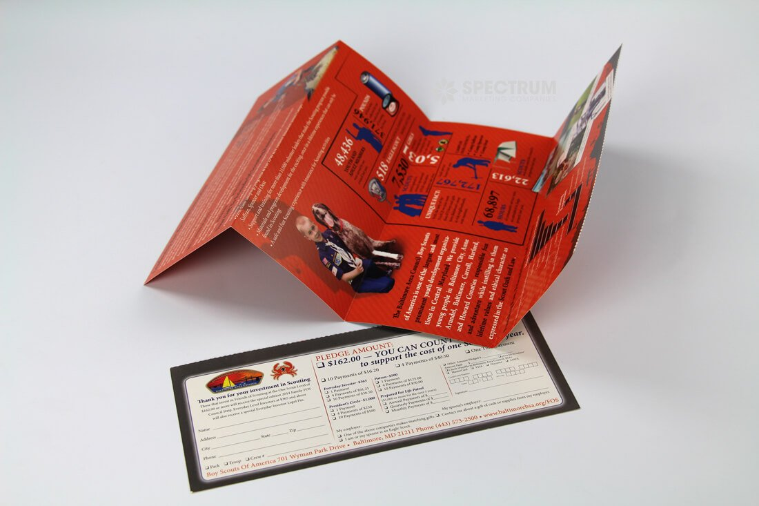 Non-Profit perforated donation mailer